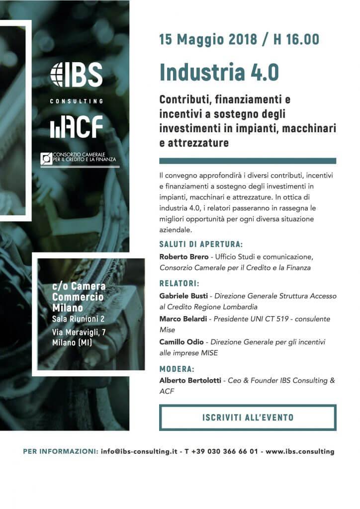 IBS Consulting - Industria 4.0 contributi, finanziamenti e incentivi